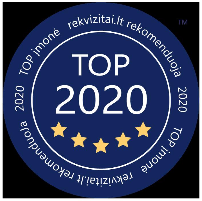 Top 2020 įmonė rekvizitai.lt rekomenduoja